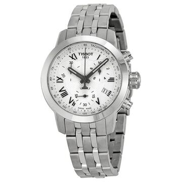 Tissot Women's T0552171103300 'PRC 200' Chronograph Stainless Steel Watch