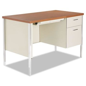 Alera Single Pedestal Steel Desk