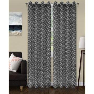 "Superior Lightweight Trellis Sheer Curtain Panels, (2), 52"" x 108"""
