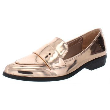 Bar III Womens Involve Patent Mirror Loafers