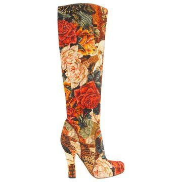 Dolce & Gabbana Multicolour Cloth Boots
