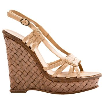 Bottega Veneta Beige Leather Sandals
