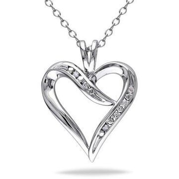 Diamond-Accent Sterling Silver Heart Necklace Necklace