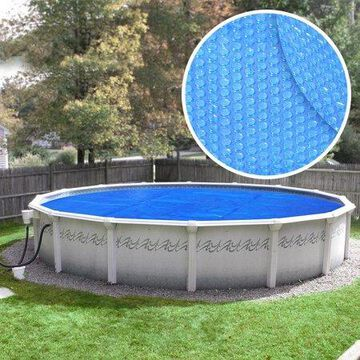 Robelle Heavy-Duty Solar Cover for Above Ground Swimming Pools, 12-Foot Pools