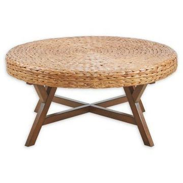 INK+IVY Seadrift Round Coffee Table in Brown