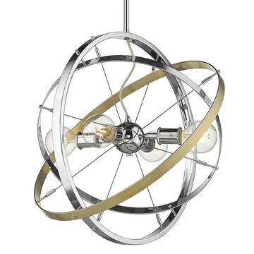 Golden Lighting Atom 4-Light Chrome Modern/Contemporary Chandelier