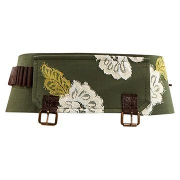 John Galliano \N Green Cotton Belts