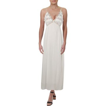 For Love & Lemons Womens Lace Pleated Maxi Dress