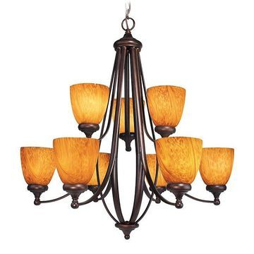 Woodbridge Lighting Kenshaw 9-light Bordeaux Chandelier