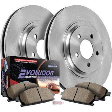 Power Stop Rear Brake Rotors and Brake Pads Kit