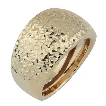 Fremada 10k Yellow Gold Diamond-cut Bold Ring