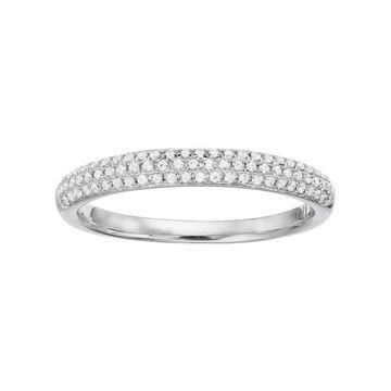 Simply Vera Vera Wang 14k White Gold 1/4 Carat T.W. Diamond Wedding Ring