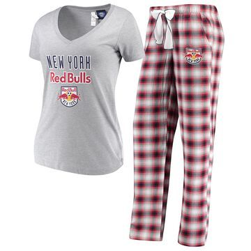 Women's Concepts Sport Heathered Gray/Red New York Red Bulls Forge Flannel Set