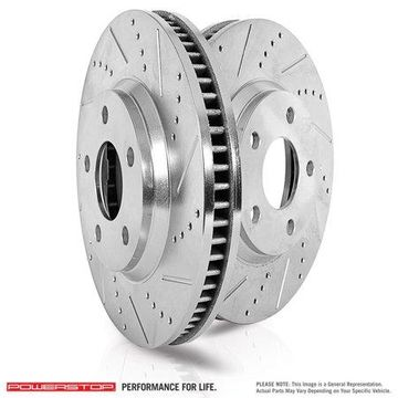 Power Stop JBR1729XPR Power Stop Drilled And Slotted Brake Rotor; Rear; Pair;