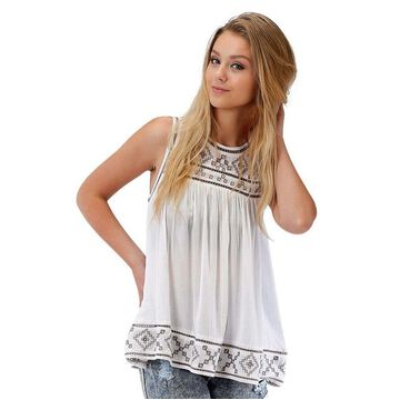 Roper Wetern hirt Women Embroidered Pullover 03-052-0565-4004 WH
