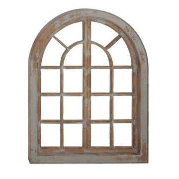 Decmode Traditional Arched Wooden Wall Decor, Gray
