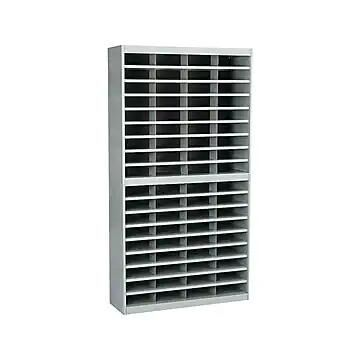 Safco E-Z Stor 72 Compartments Literature Organizer, Gray (9241GRR)