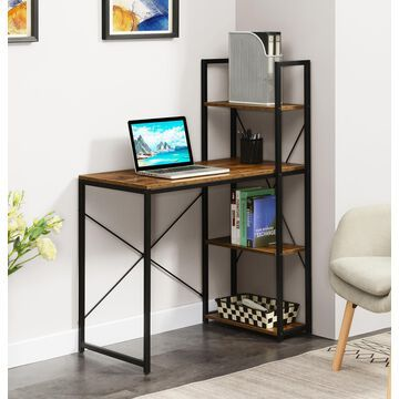 Convenience Concepts Designs2Go Office Workstation with Shelves, Multiple Finishes