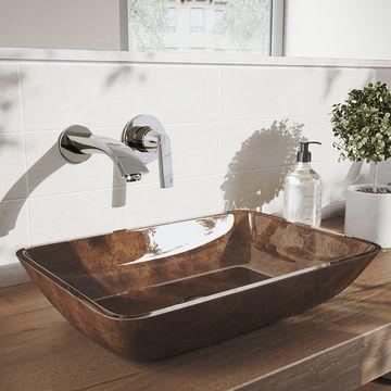 VIGO Aldous Chrome Wall Mount Bathroom Faucet