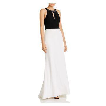 AIDAN MATTOX Black Sleeveless Full-Length Dress 0