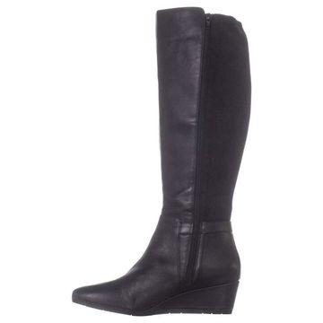 Giani Bernini Womens Catrinaa Leather Round Toe Knee High