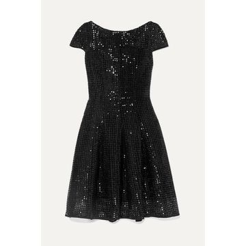 Talbot Runhof - Noix Sequined Macrame Dress - Black