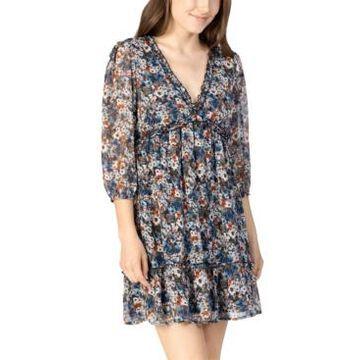 Speechless Juniors' Floral-Print Shift Dress
