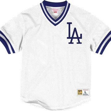 Mitchell & Ness Men's Replica Los Angeles Dodgers White Cooperstown Jersey