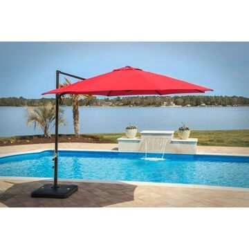 Hanover Red Cantilever Umbrella
