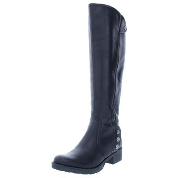 Baretraps Womens Oria Faux Leather Knee-High Riding Boots