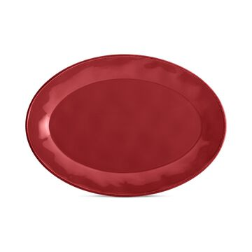 Rachael Ray Cucina Cranberry Red Oval Platter