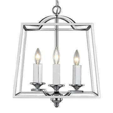 Golden Lighting Athena Chrome 3-light Pendant