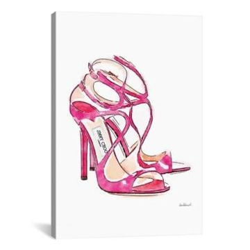 iCanvas Pink Shoes by Amanda Greenwood Gallery-Wrapped Canvas Print - 40