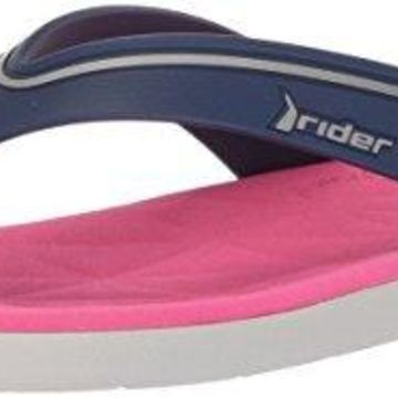 Rider Women's Elite Flip-Flop, Grey/Blue/Pink, 5 Medium US