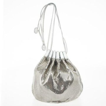 Chloe Metallic Mesh Drawstring Bag