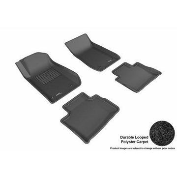 3D MAXpider 2013-2016 Chevrolet SS Front & Second Row Set All Weather Floor Liners in Black Carpet
