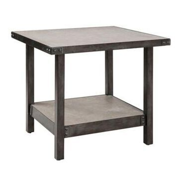 INK+IVY Cody End Table in Pewter