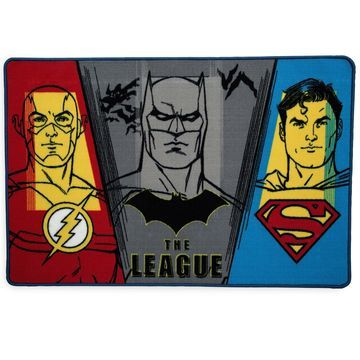 DC Comics Justice League Soft Area Rug with Non Slip Backing