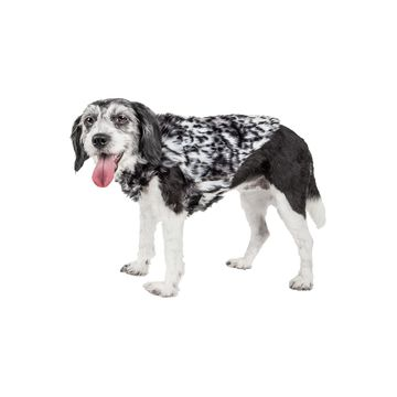 Pet Life Luxe 'Paw Dropping' Designer Gray-Scale Tiger Pattern Mink Fur Dog Coat Jacket