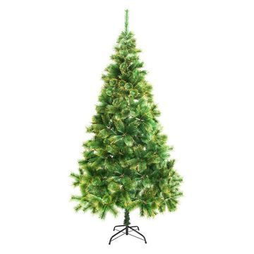 ALEKO Artificial Christmas Tree with Golden Tips Indoor Holiday Decor 7 Ft