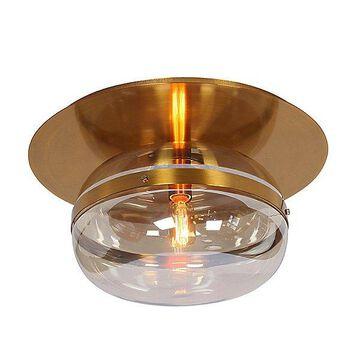 Eurofase Nottingham Semi-Flushmount Light - Color: Brass - Size: Medium - 37087-012