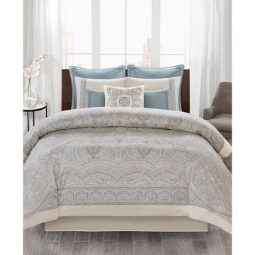 Design Larissa 4-Pc. Cotton Queen Comforter Set