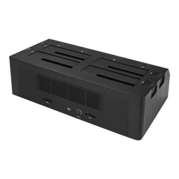 StarTech.com4 Bay SATA 2.5 / 3.5in SSD / HDD Dock - USB 3.1 USB-C / USB-A - Storage enclosure - 2.5