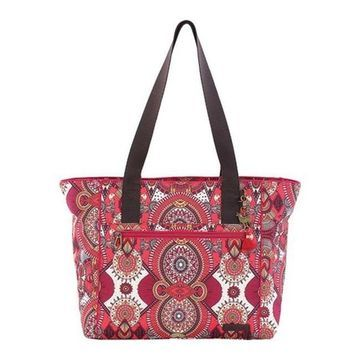 Sakroots Women's Andes Small Travel Tote Ruby Wanderlust - US Women's One Size (Size None)