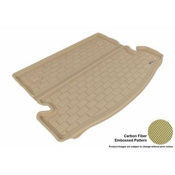 3D MAXpider 2014-2016 Nissan Rogue All Weather Cargo Liner in Tan with Carbon Fiber Look