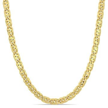 Miadora 10k Yellow Gold Curb Link Necklace