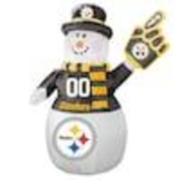 Boelter Brands Pittsburgh Steelers 7-ft Lighted Snowman Christmas Inflatable