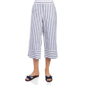 Foxcroft Womens Striped Cropped Cropped Pants