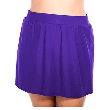 Miraclesuit Womens Eggplant Purple Size 16W Plus Slimming Swim Skirt