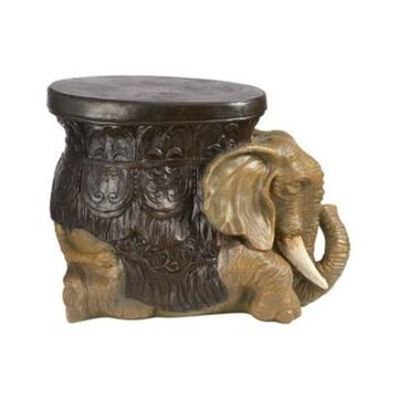 Design Toscano the Sultans Elephant Sculptural Side Table